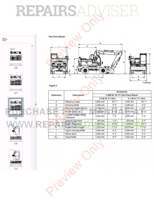 DOOSAN Daewoo Excavator DX140W/DX160W Shop Manual PDF Download