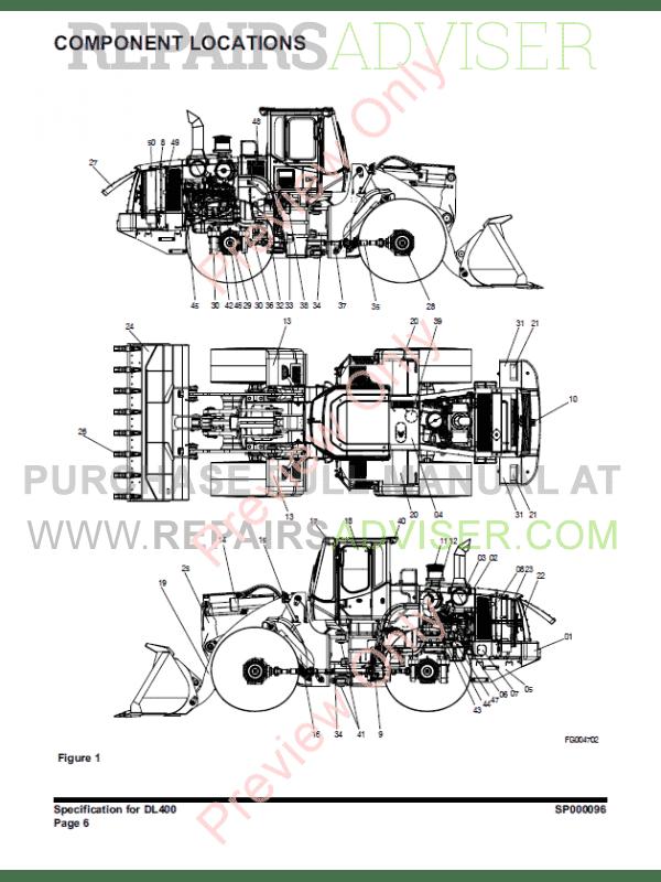 DOOSAN Wheel Loader Safety DL400 Shop Manual PDF Download
