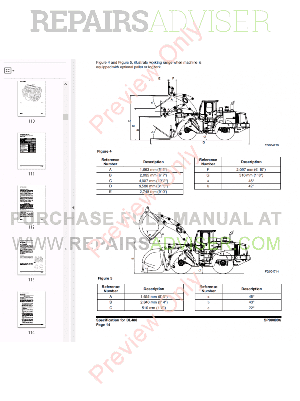 DOOSAN Wheel Loader Safety DL400 Shop Manual PDF Download