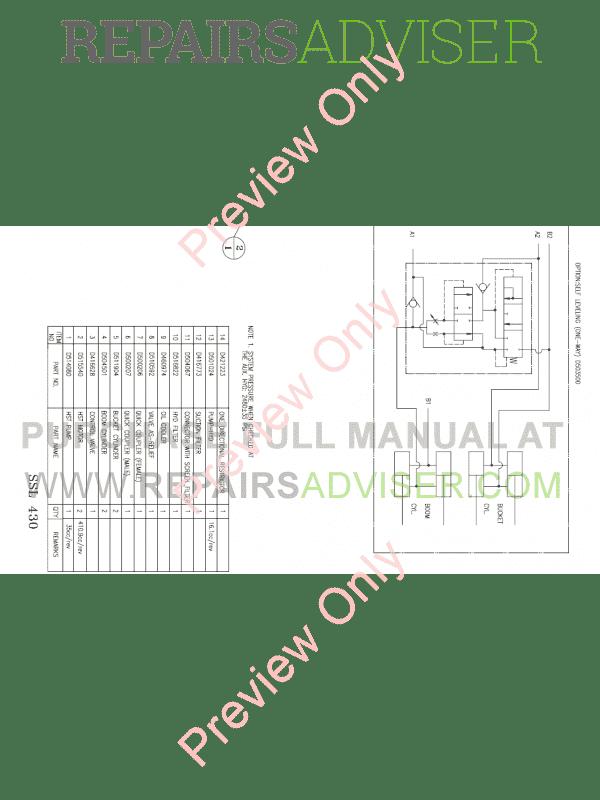 Daewoo Doosan 430 Plus Skid Steer Loader Set Schematics of