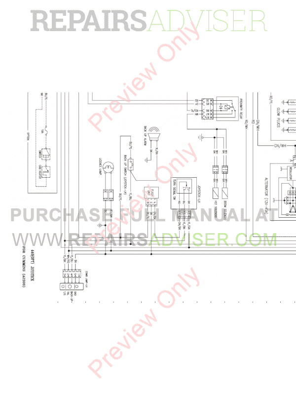 Daewoo Doosan 440 Plus Skid Steer Loader Set Schematics of