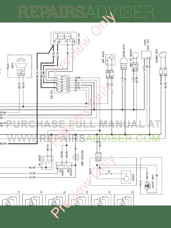 Daewoo Doosan 440 Plus Skid Steer Loader Set Schematics of