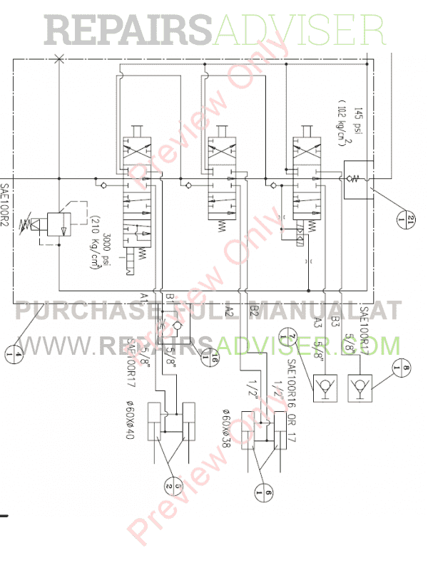 Daewoo Doosan 450 Plus Skid Steer Loader Set Schematics of