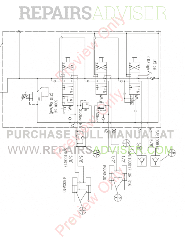 Daewoo Doosan 460 Plus Skid Steer Loader Set Schematics of