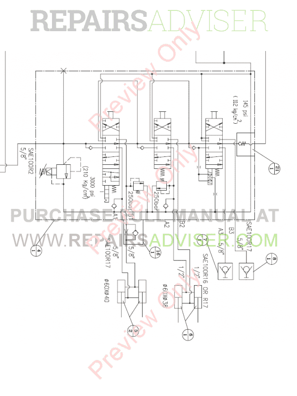 Daewoo Doosan 470 Plus Skid Steer Loader Set Schematics of