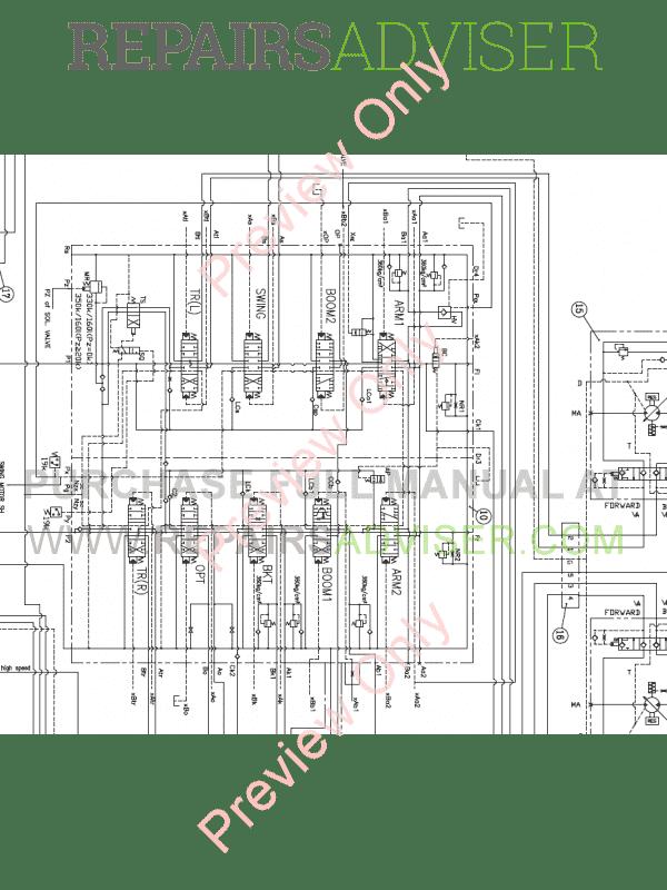 Daewoo S250/S255 LCV Crawler Excavators Schemes Set of PDF