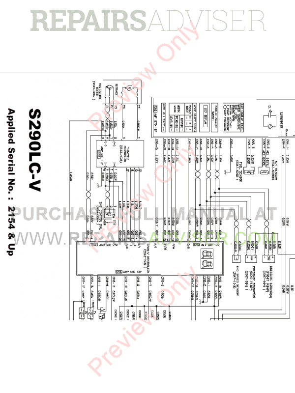 Daewoo S290LC-V Tracked Excavators Schemes Set of PDF Download