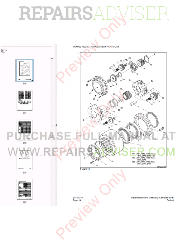 Daewoo Solar 290LC-V Track Excavator Shop manual of PDF