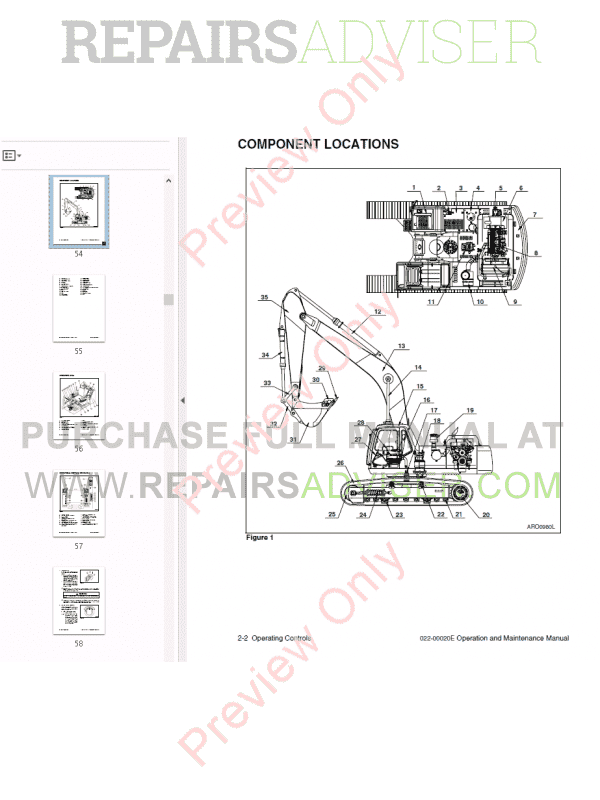 Daewoo Solar 300LC-V Track Excavator Set of PDF Manuals