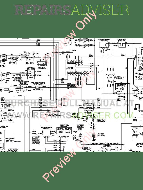 Daewoo Solar S220LC-V Tracked Excavator Schemes Set of PDF