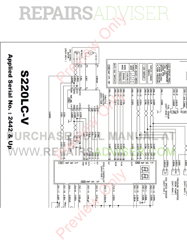 Daewoo Solar S220LC-V Tracked Excavator Schemes Set of PDF