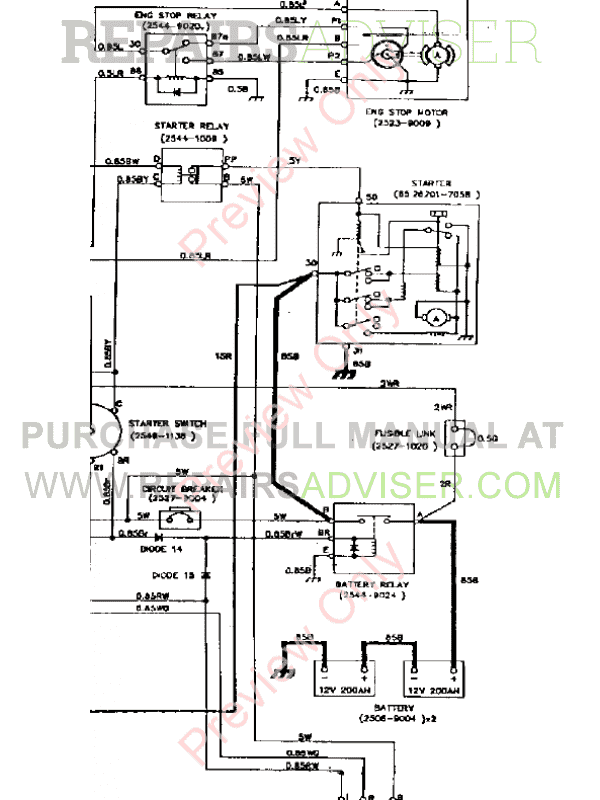 Daewoo Track Excavator DH320LC Schemes Set of PDF Download