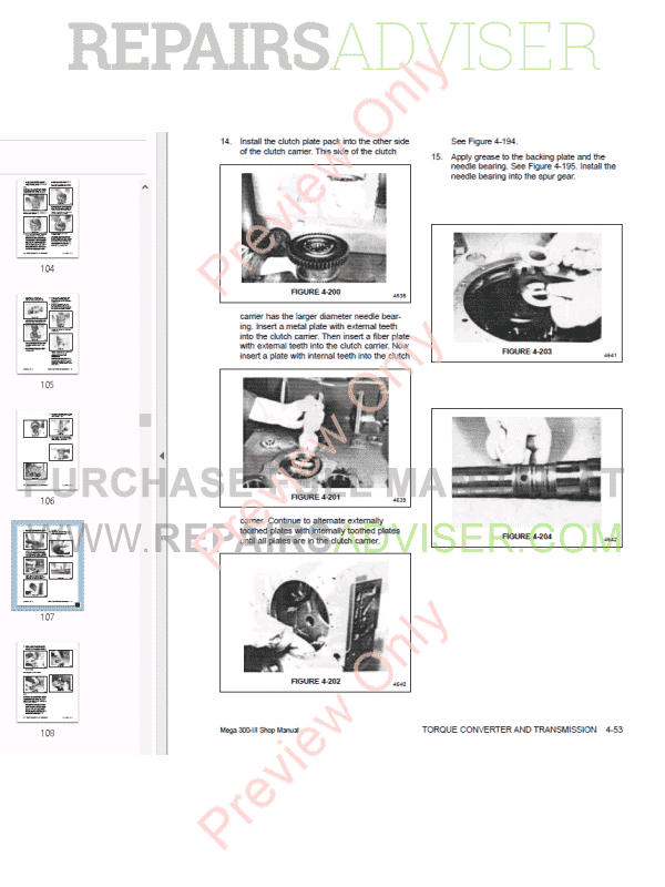 Daewoo Wheel Loader Mega 300-III Shop Manual PDF Download