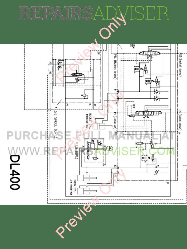 Doosan DL400 Wheel Loader Schemes Set of PDF Download