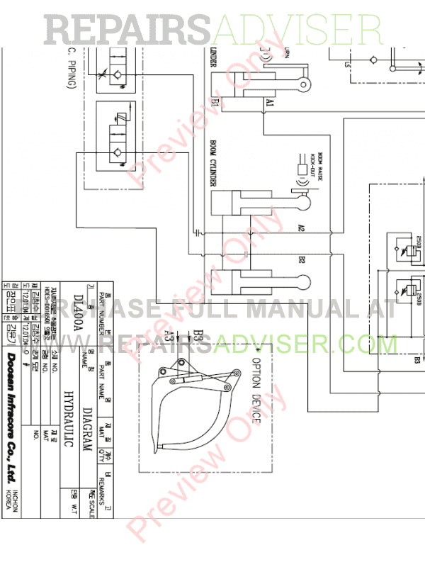 Doosan DL420 Wheel Loader Schemes Set of PDF Download