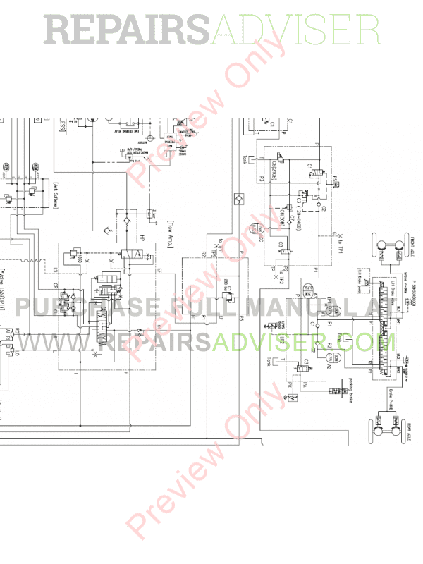 Doosan DL550-3 Wheel Loader Schemes Set of PDF Download
