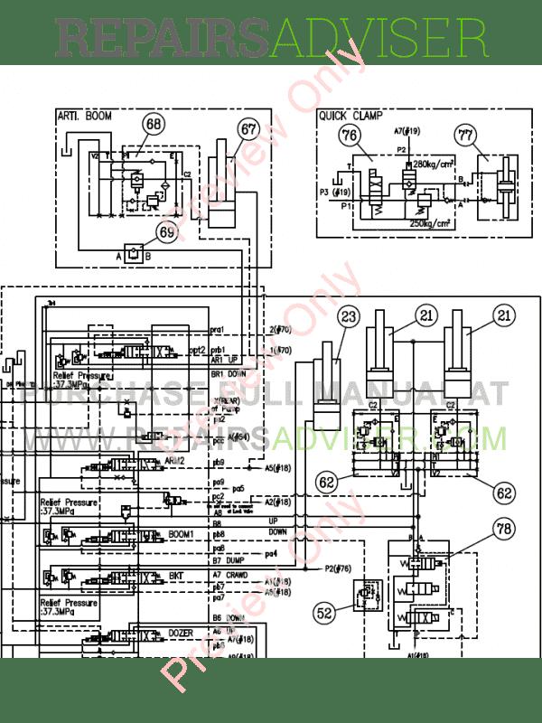 Doosan DX140W Wheel Loader Schemes Set of PDF Download