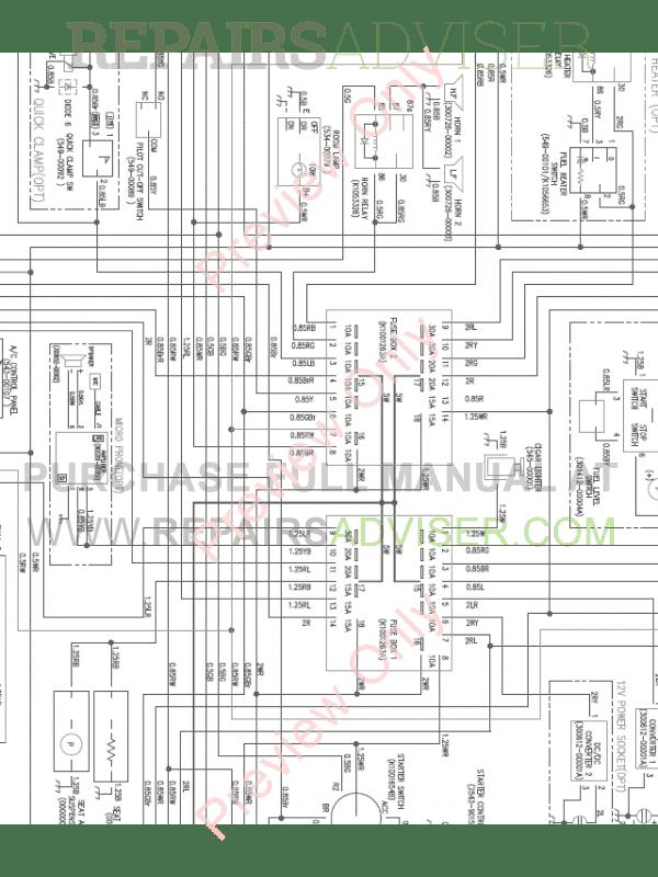 Doosan DX160LC-3 Crawler Excavator Wiring Diagram of PDF