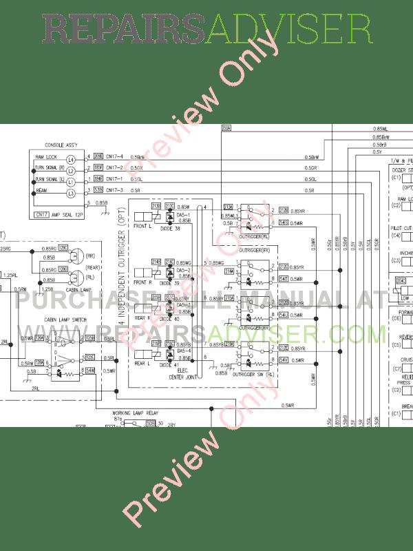 Doosan DX170W Wheel Excavator Schemes Set of PDF Download