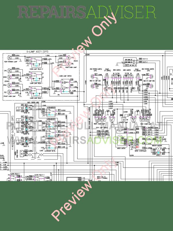 Doosan DX190W Wheel Excavator Schemes Set of PDF Download