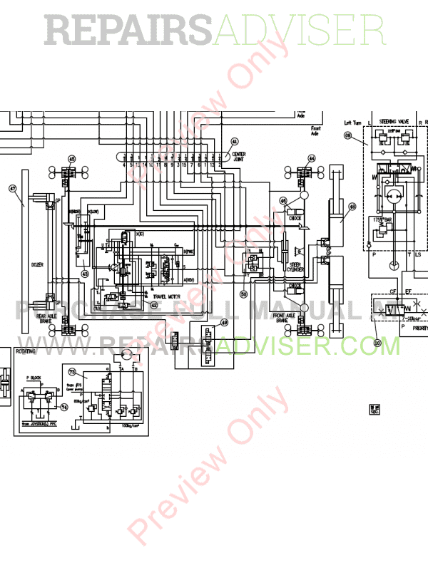 Doosan DX190W Wheel Excavator Schemes Set of PDF Download