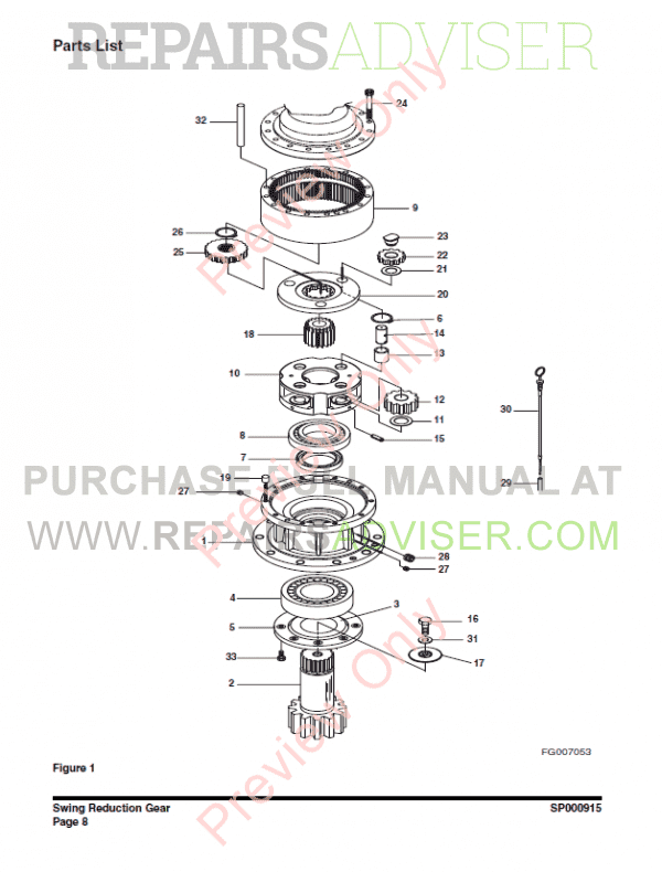 Doosan DX225LC Track Excavator Shop Manual PDF Download