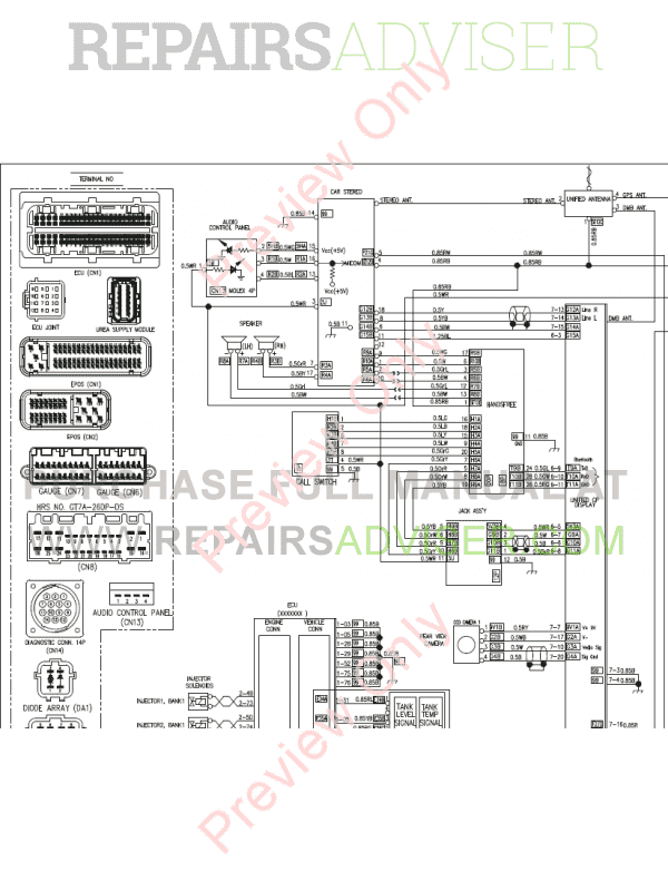 Doosan DX235LCR-5 Crawler Excavator Schemes Set of PDF