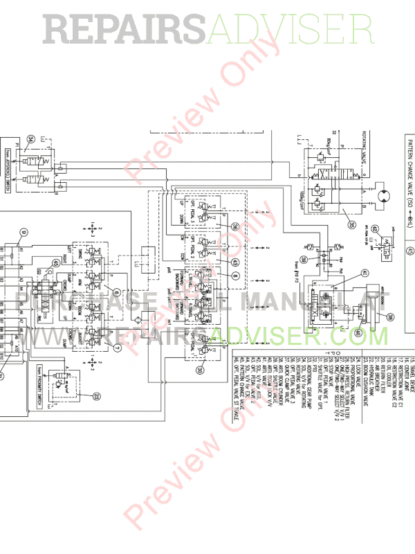 Doosan DX235LCR-5 Crawler Excavator Schemes Set of PDF