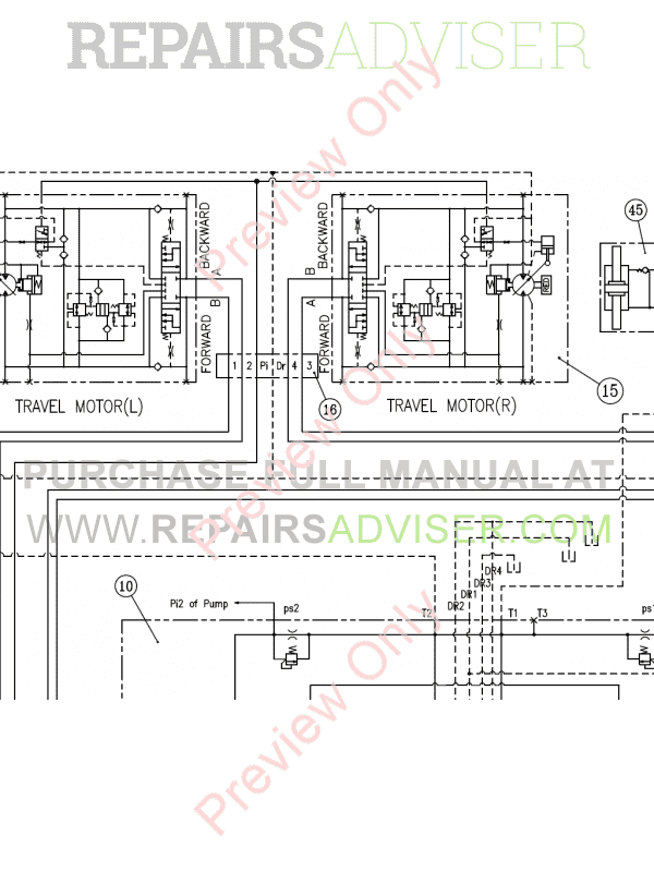 Doosan DX255LC-3 Crawler Excavator Set Schematics of PDF