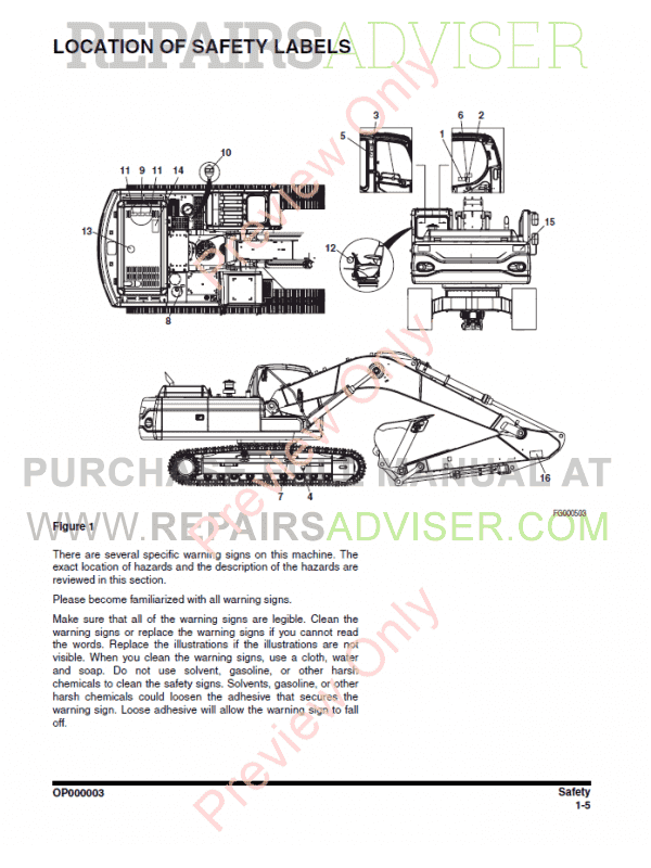 Doosan DX300 LC Track Excavator Set of PDF Manuals Download