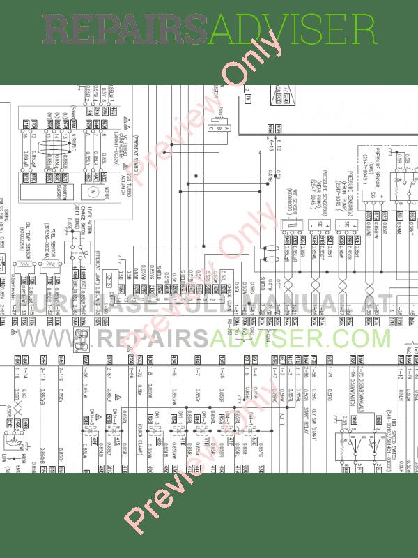 Doosan DX480LC-3 Hydraulic Excavator Schemes Set of PDF