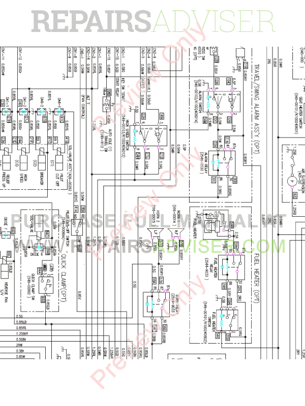 Doosan DX480LC-3 Hydraulic Excavator Schemes Set of PDF