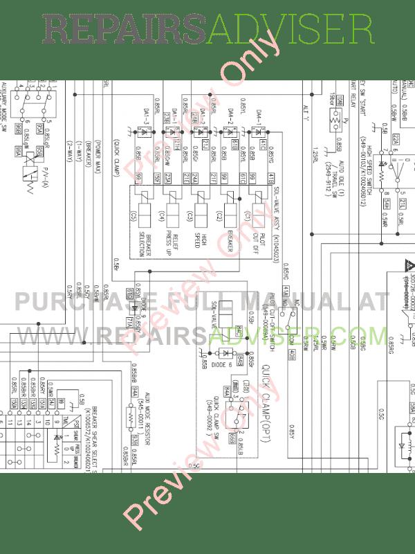 Doosan DX700LC Crawler Excavator Set Schematics of PDF