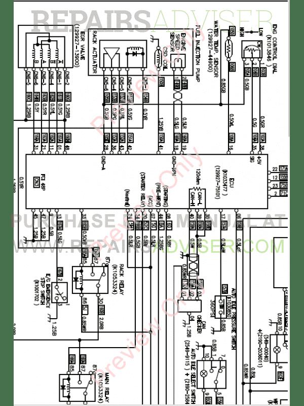 Doosan Daewoo DX55 Mini Excavator Schemes Set of PDF Download