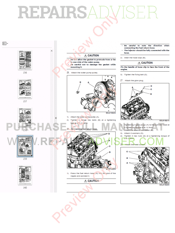 Doosan Diesel Engine D18NAP Operation & Maintenance Manual