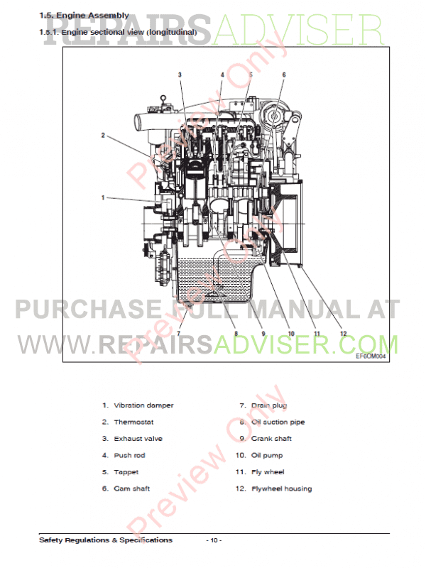 Doosan Diesel Engine DV11 Maintenance Manual PDF Download