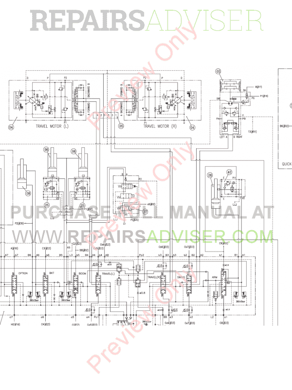 Doosan Excavator DX380LC-3 Schemes Set of PDF Download