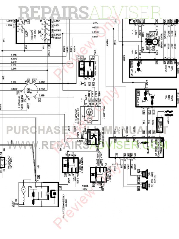 Doosan Heavy Excavator DX340LC-3 Set Schematics of PDF