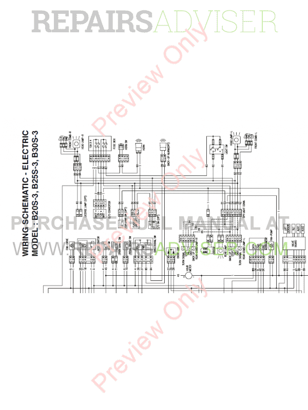 Doosan Lift Trucks B20S-3, B25S-3, B30S-3 Maintenance
