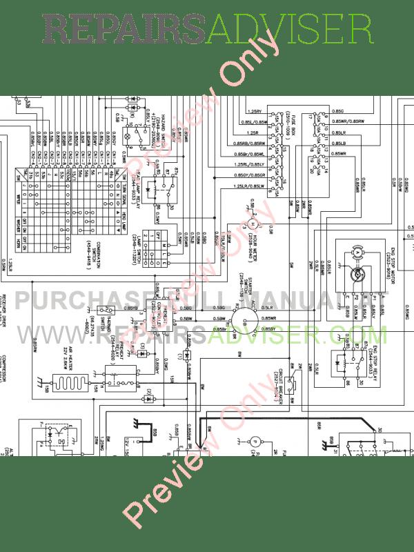 Doosan M300-3 Wheel Loader Schemes Set of PDF Download