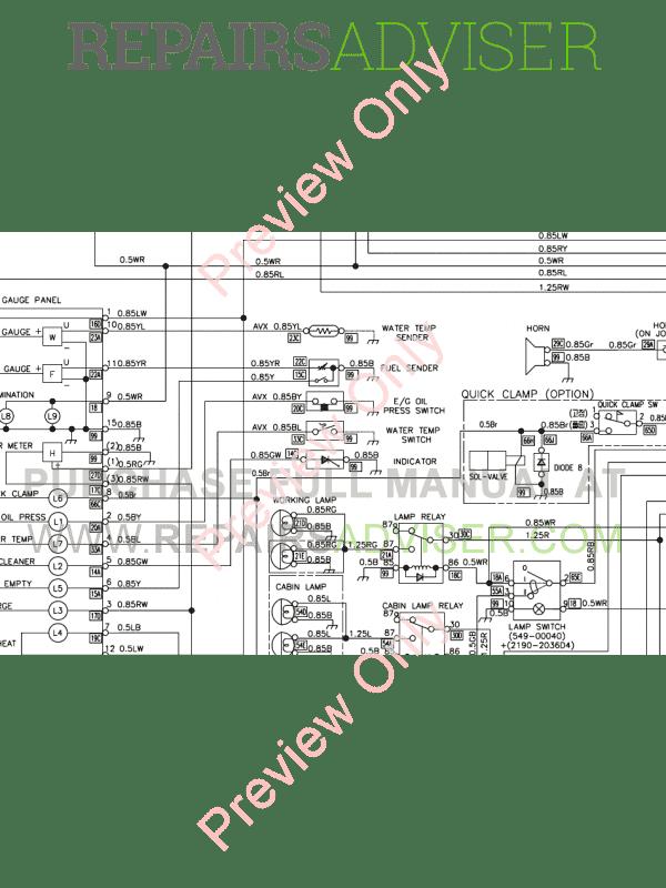 Doosan Mini Crawler Excavator DX27Z/DX30Z Set Schematics
