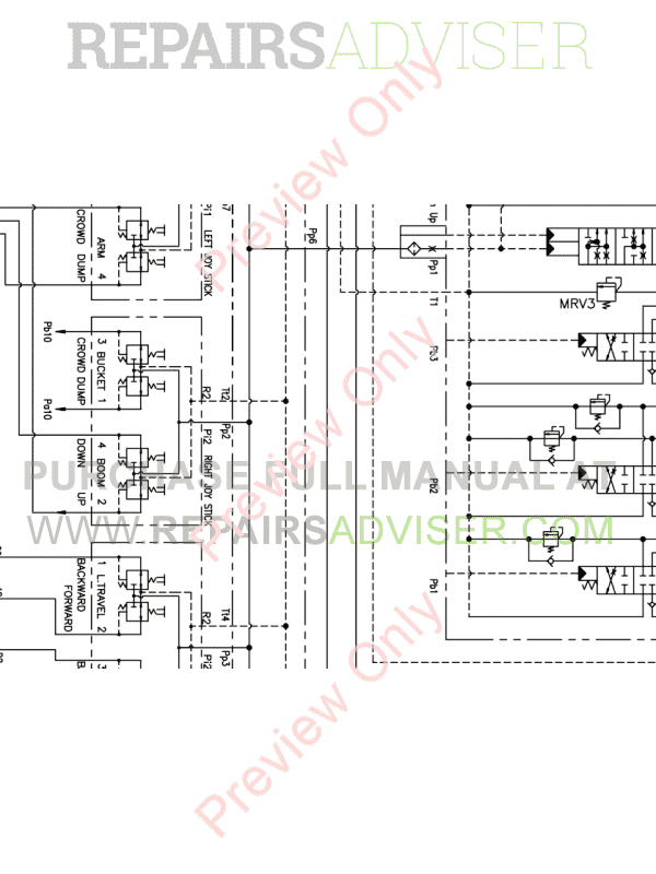 Doosan Mini Crawler Excavator DX27Z/DX30Z Set Schematics