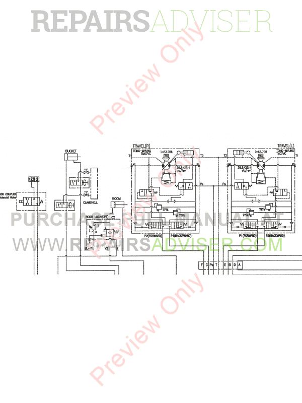 Doosan Mini Excavators DX60R/DX80R Set Schematics of PDF