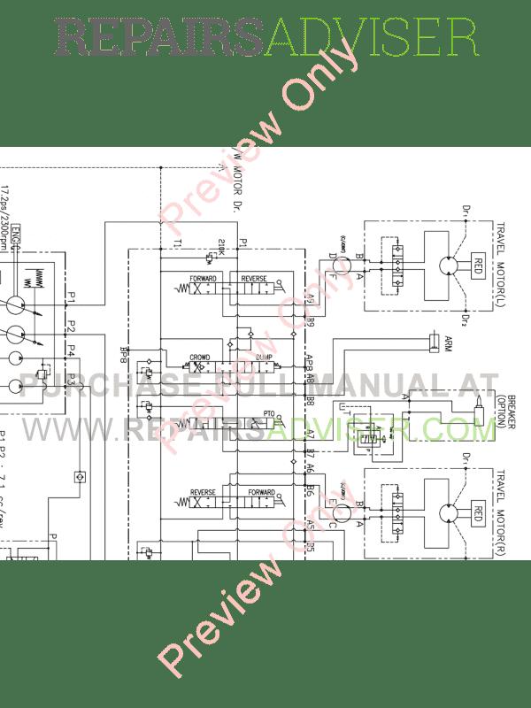 Doosan S018VT Mini Track Excavator Set Schematic of PDF