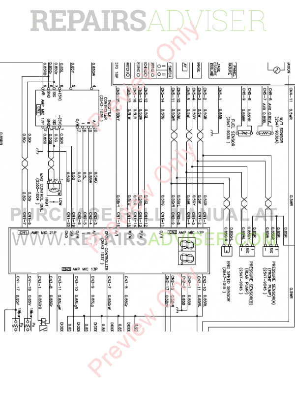 Doosan S130LC-V/3 Excavator Schemes Set of PDF Download