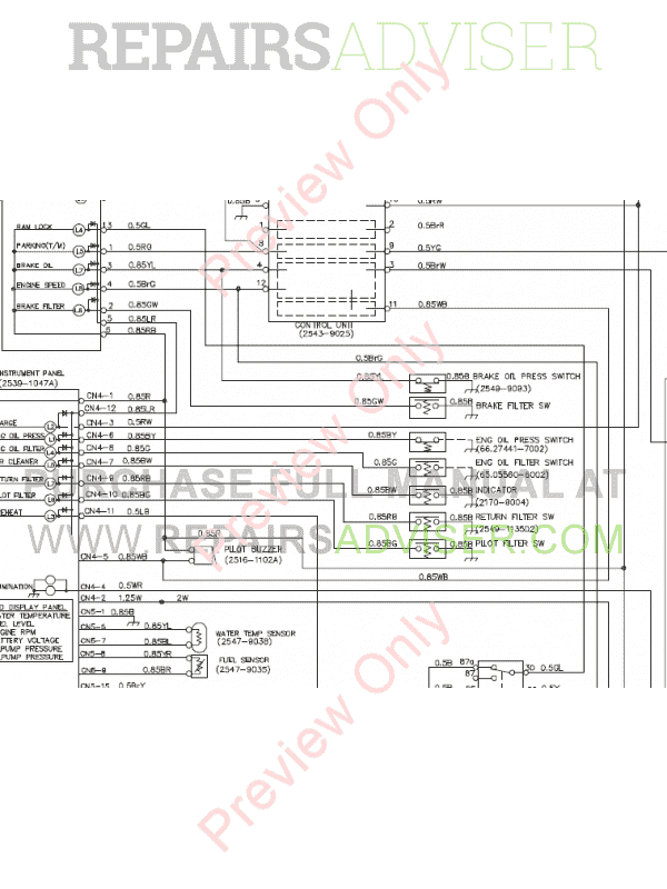 Doosan S130W-V/3 Wheel Excavator Schemes Set of PDF Download