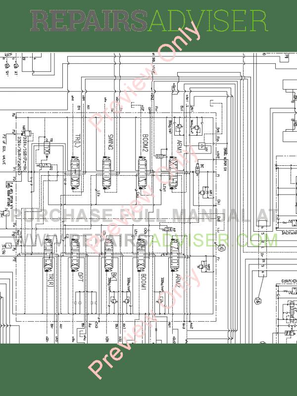 Doosan S140LC-V Hydraulic Excavator Schemes Set of PDF