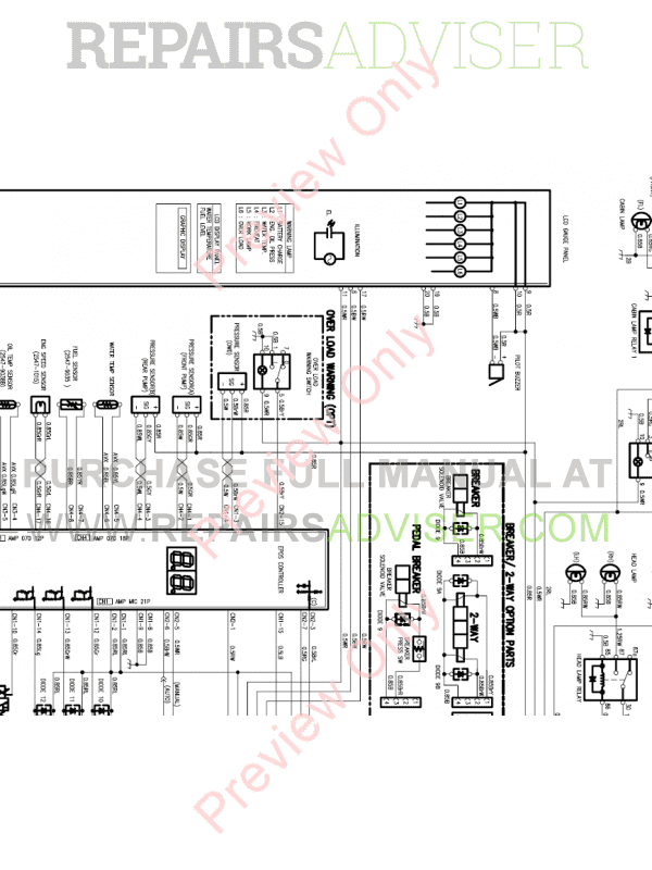 Doosan S175LCV Hydraulic Excavator Schemes Set of PDF Download