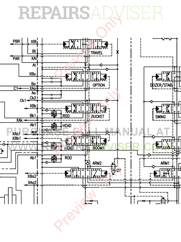 Doosan S180W-V Wheel Excavator Schemes Set of PDF Download