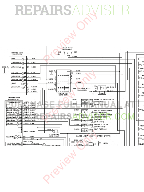 Doosan S200W-3/V Wheel Excavator Schemes Set of PDF Download